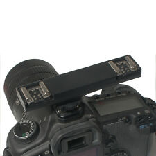 WS Dual Hot Shoe Photography Flash Speedlite Light Bracket Splitter for Canon