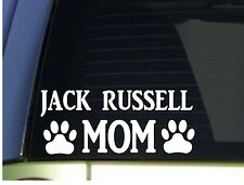 Jack Russell Mom sticker *H340* 8.5 inch wide vinyl parson jrt pudding dog
