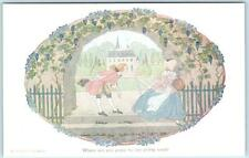 Willebeek le Mair WHERE ARE YOU GOING TO, MY PRETTY MAID Signed Artist Postcard