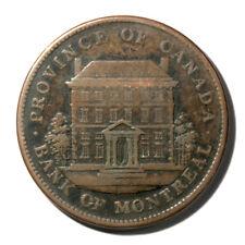 Canada Quebec Bank of Montreal Penny Token 1842  VF+ KMTn19 Breton-526