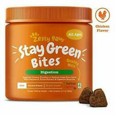 Zesty Paws Stay Green Bites for Dogs - Grass Burn Soft Chews Lawn Spots...