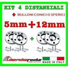 KIT 4 DISTANZIALI ALFA ROMEO SYPDER GTV 916 1995-2006 PROMEX ITALY 5mm + 12mm