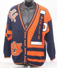 VTG Auburn Tigers War Eagle Belle Point Womens XL Cheerleading Cardigan Sweater