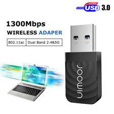 1200Mbps Mini Wireless Dual Band AC1200 USB Wi-Fi Network Adapter Nano USB 3.0