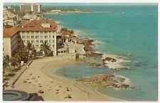 San Juan Puerto Rico Condado Beach and Hotel Vintage Postcard #783