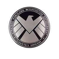 Avengers Agents of SHIELD Badge Chrome 3D Metal Car Sticker Emblem Decals Decor