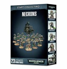 WH40K START COLLECTING! NECRONS (Immortals, Warriors, Barge, Overlord, & Lord)