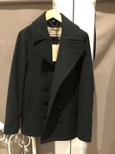 Men's Authentic BURBERRY London Cashmere/Virgin Wool Coat Navy Blue (trench)