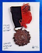 Spanish American War Order of The Serpent Pin Badge Medal Ribbon