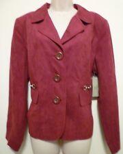 New Studio Works womens XL 16 18 red burgundy maroon lined blazer suit jacket