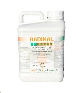 Desherbant Professionnel 5L RADIKAL contre les Mauvaises Herbes Herbicides