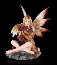 Elfen Figur - Himiyana mit Drachenjungem im Herbst - Fantasy Fee Drachenelfe