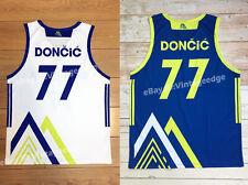 New Luka Doncic #77 Team Slovenija Basketball Jerseys Mountain Edition