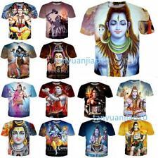 Newest Women/men Short Sleeve Tops Fashion Funny Shiva 3D Print Casual T-Shirt