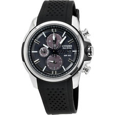 Citizen Drive Black Dial Black Siliocne Men's Watch CA042007E