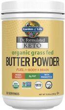 Dr. Formulated Keto Organic Grass Fed Butter Powder, Garden of Life, 300 gram