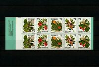 ✔️ (SW 539) Sweden 1977 MNH Mi 994 -8 Sc 1215 -9 Booklet Flora, Berries