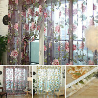 Textile Flower Embroidered Dramatic Fabric Tulle Sheer 3D Window Curtain Reliabl