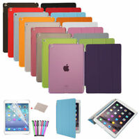 With Hard Back Smart Stand Cover PU Leather Case For Apple iPad Mini 1 2 3 New