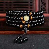 Magnetische Schlafmittel Therapie Obsidian Armband Schwarz Original E6B6