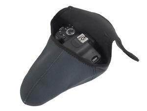 Medium Neoprene Camera Case Bag soft Protector for DSLR with Lenses - UK SELLER