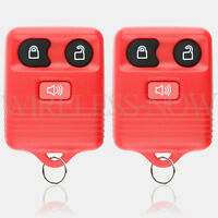 2 Car Key Fob Keyless Remote Red For 2010 2011 2012 2013 2014 2015 Ford Explorer