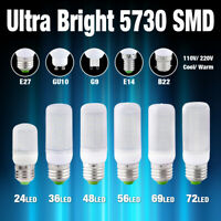 E27 E14 G9 GU10 B22 Ultra Bright LED Lights 5730SMD Milky Cover Corn Bulb Lamp