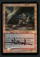 ***1x FOIL Bloodstained Mire Signed (Water Damage)*** MTG Onslaught -Kid Icarus-