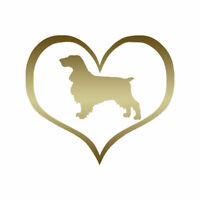 Love Field Spaniel Dog Heart - Vinyl Decal - Multiple Color & Sizes - ebn1457