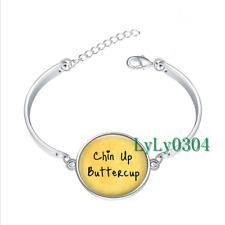 Chin Up Buttercup glass cabochon Tibet silver bangle bracelets wholesale