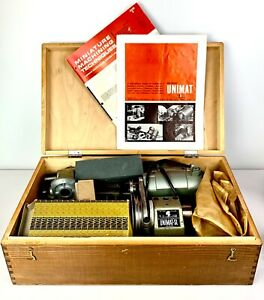 Vintage Superb AUSTRIAN UNIMAT SL DB200 Mini Lathe  w ACCESSORIES Manual & BOX