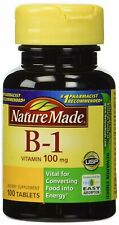 Nature Made Vitamin B-1 Tablets 100 mg Dietary Supplement 100 Count, 3 Pack