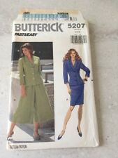 Butterick 5207 Uncut Factory Folded Gauchos Split Skirt Vintage Size 6 8 10