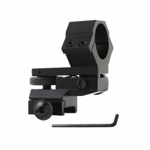 New 25mm Ring Sight Torch Scope Mount Adjust Elevation Windage For 20mm Rail
