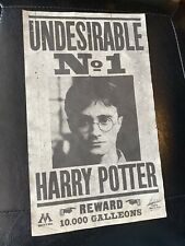 Harry Potter Screen Used Prop Undesirable NO.1 Poster W/ COA