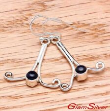 BLUE GOLDSTONE EARRINGS 925 STERLING SILVER jewelry + FREE GIFT