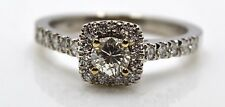 14k White Gold with Diamonds .72 CTTW Engagement Ring Size 7