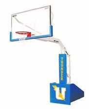 (2) Bison T-REX Competition Portable Basketball Systems Hoop Glass Backboard 10'