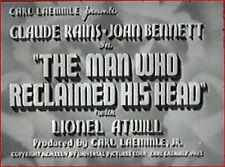 THE MAN WHO RECLAIMED HIS HEAD 1934 Drama w/Claude Rains, Joan Bennett