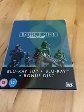 ROGUE ONE A STAR WARS STORY 3D BLU RAY STEELBOOK NEW AND SEALED