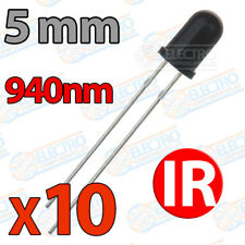 10x LED IR 5mm receptor infrarrojo fototransistor infrared 940nm
