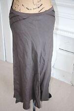 BNWT Nicole Farhi Brown Ribbon Linen Midi Fishtail Skirt UK 12 RRP £260 -75%!