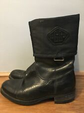 G-star Raw Womens Black Leather Boots Size 4(37)