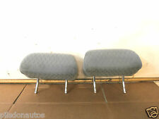 BMW 3 SERIES E46 1999 PAIR OF GREY PATTERN TEXTILE MATERIAL FRONT HEADRESTS