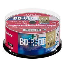 30 Victor JVC Bluray Disc 50GB BD-RE DL Inkjet Printable Blu ray Rewritable 50gb