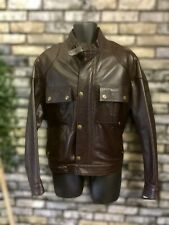 Belstaff Gangster 2.0 Brown Leather Jacket UK L