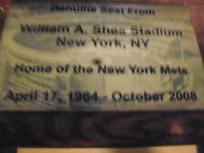 NEW YORK METS SHEA  Stadium seat PLAQUE