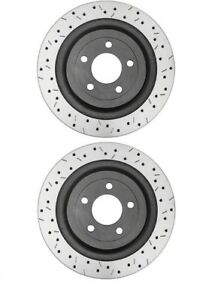 DBA XS Rear 4000 Drilled/Slotted Brake Rotors (Pair) For Ford Focus RS