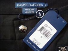 NWT$298 RALPH LAUREN Leather Trim Cotton Blend Black Riding Breeches Pant Sz 6