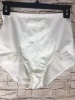 Vintage Girdle Shapewear Panel Brief Granny Panty Panties Lace Thigh Gusset L/XL